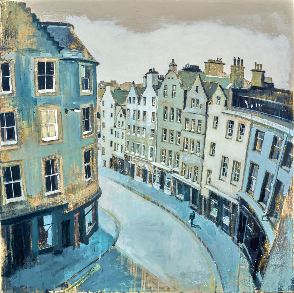Victoria Street, Edinburgh by camilla dowse -  sized 30x30 inches. Available from Whitewall Galleries